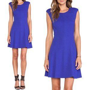 Rebecca Taylor NWT Texture Ponte Dress Royal Blue